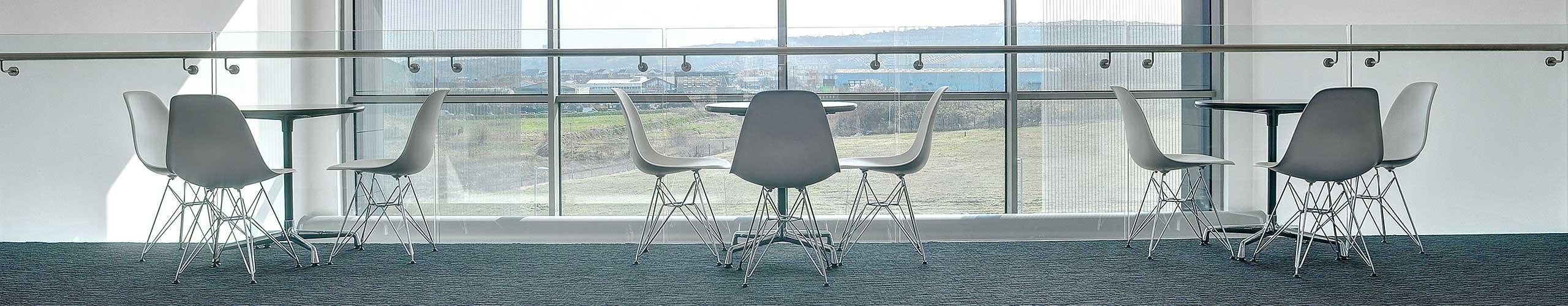 Round desks at the Northern Design Centre